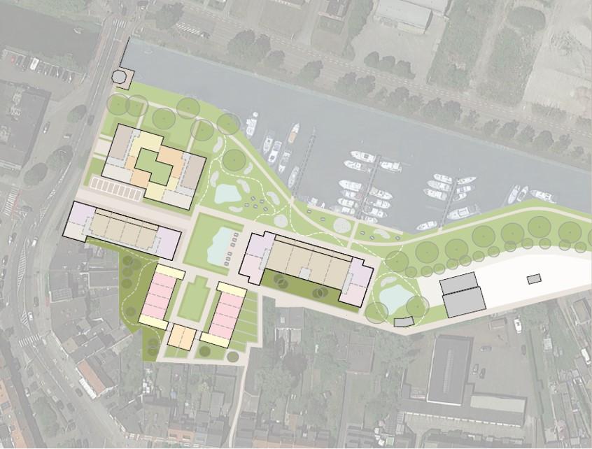 nieuwe site Havenplein Schoten